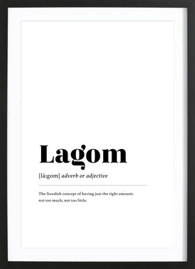 Lagom Framed Print