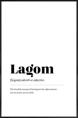 Lagom Framed Poster