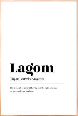 Lagom poster in aluminium lijst