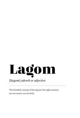 Lagom Aluminium Print