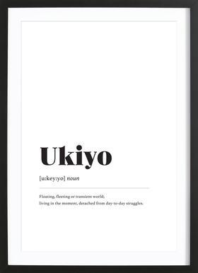 Ukiyo ingelijste print