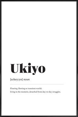 Ukiyo ingelijste poster