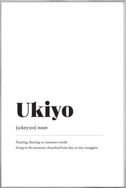 Ukiyo poster in aluminium lijst