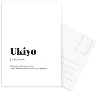 Ukiyo ansichtkaartenset