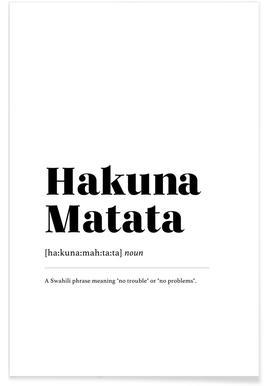 Hakuna Matata Poster