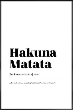 Hakuna Matata ingelijste poster