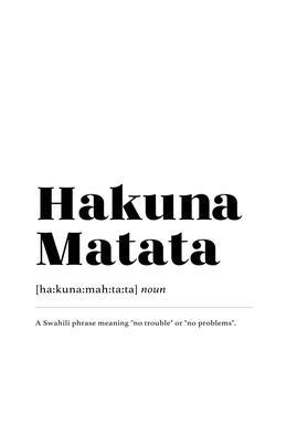 Hakuna Matata canvas doek