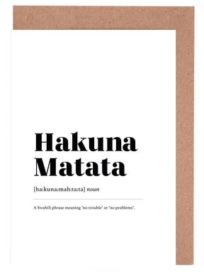 Hakuna Matata Greeting Card Set