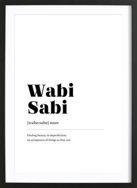 Wabi-Sabi ingelijste print