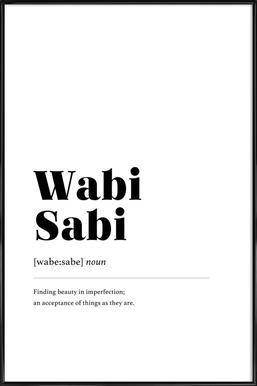 Wabi-Sabi ingelijste poster