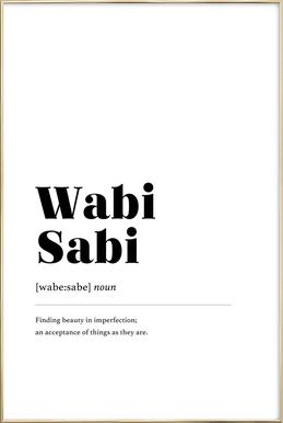 Wabi-Sabi Poster in Aluminium Frame