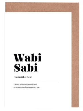Wabi-Sabi cartes de vœux