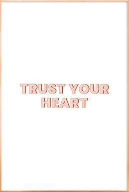 Trust Your Heart poster in aluminium lijst