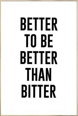 Be Better poster in aluminium lijst