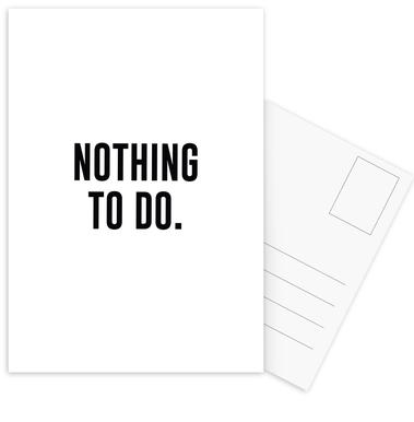 Nothing to Do Postcard Set