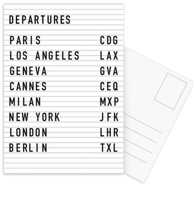 Departure Paris ansichtkaartenset