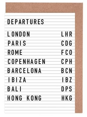 Departure London Greeting Card Set