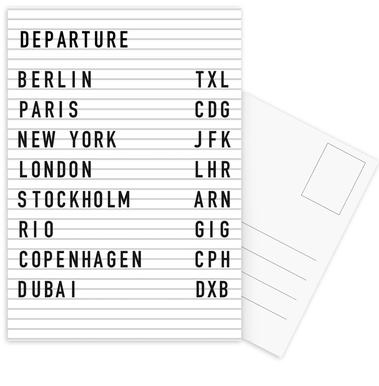 Departure Berlin Postcard Set