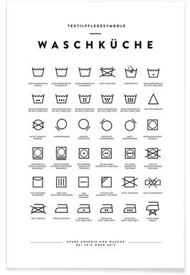Wäsche Poster