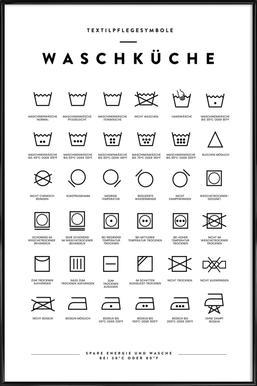 Wäsche Framed Poster