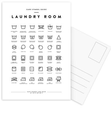 Laundry Postcard Set