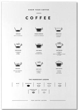 Coffee Chart Notepad