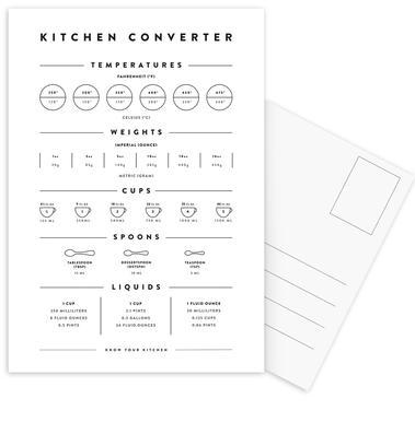 Kitchen Conversion Measurements Postcard Set