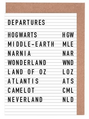 Fantasy Destinations Greeting Card Set