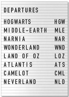 Fantasy Destinations Notepad