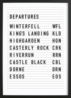 Game of Thrones Destinations ingelijste print