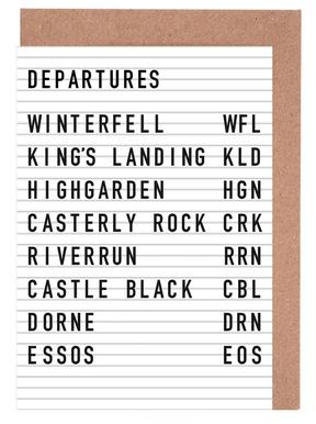 Game of Thrones Destinations Greeting Card Set