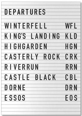 Game of Thrones Destinations bloc-notes