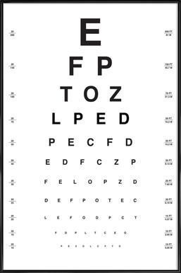 Eye Chart Framed Poster