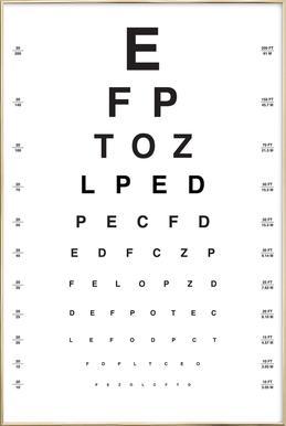 Eye Chart poster in aluminium lijst