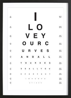 Eye Chart I Love You Framed Print