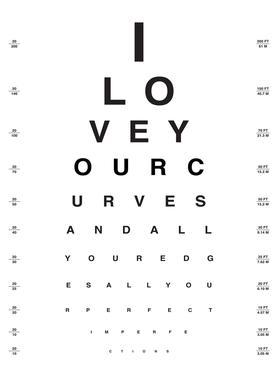 Eye Chart I Love You Canvas Print