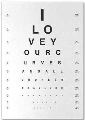 Eye Chart I Love You Notepad