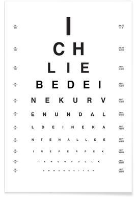 Eye Chart Ich Liebe Dich affiche
