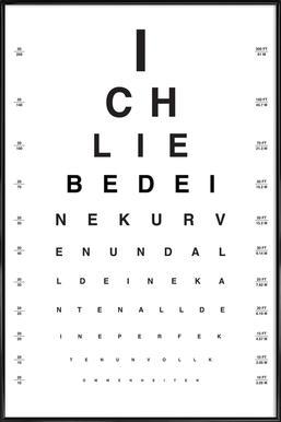 Eye Chart Ich Liebe Dich Framed Poster