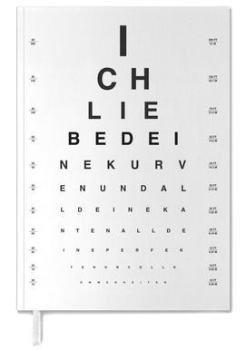 Eye Chart Ich Liebe Dich Personal Planner