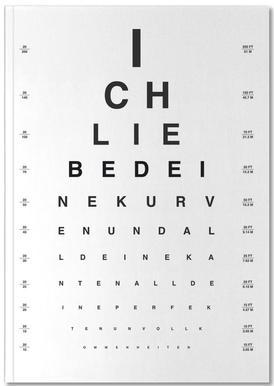 Eye Chart Ich Liebe Dich Notebook