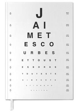 Eye Chart Je t'aime Personal Planner