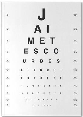 Eye Chart Je t'aime Notebook