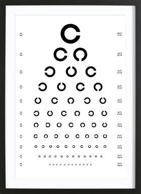 Eye Chart Japanese Design Framed Print