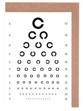 Eye Chart Japanese Design cartes de vœux