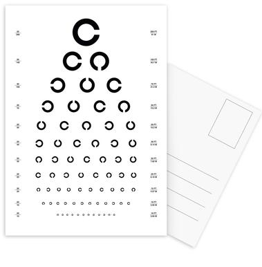 Eye Chart Japanese Design Postcard Set