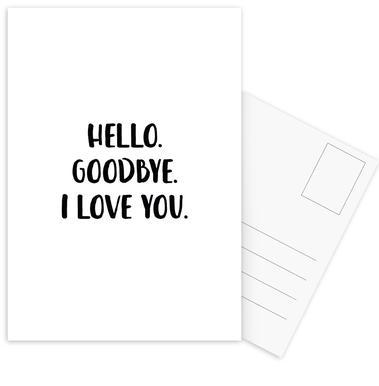 Hello Goodbye Postcard Set