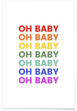 Oh Baby Rainbow Poster