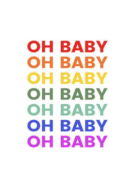 Oh Baby Rainbow Canvas Print