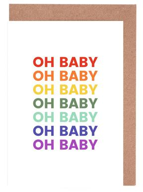 Oh Baby Rainbow Greeting Card Set